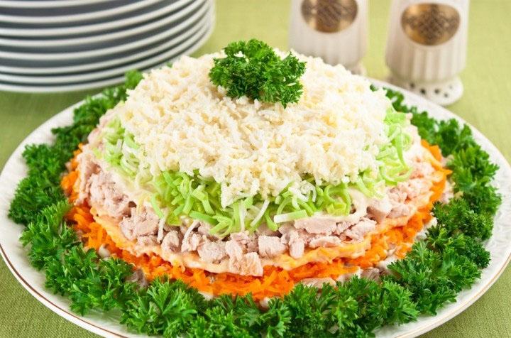 Salate de sarbatori cu pui